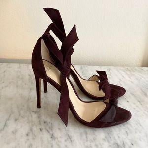 Alexandre Birman clarita red suede sandals heels